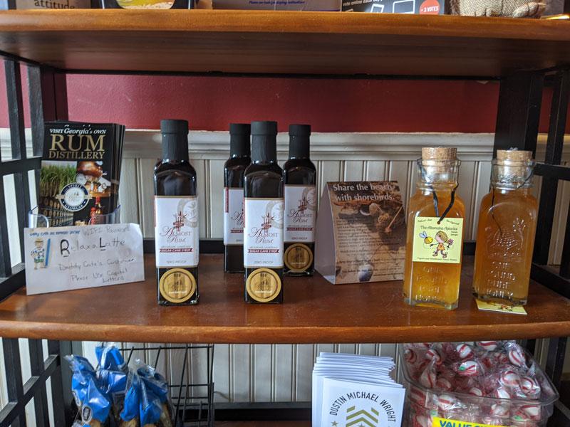Products on a shelf